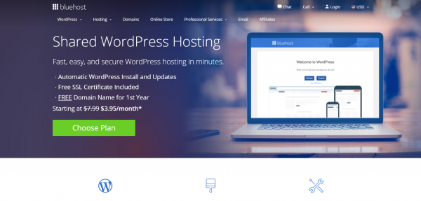 Bluehost Shared Basic WordPress Hosting