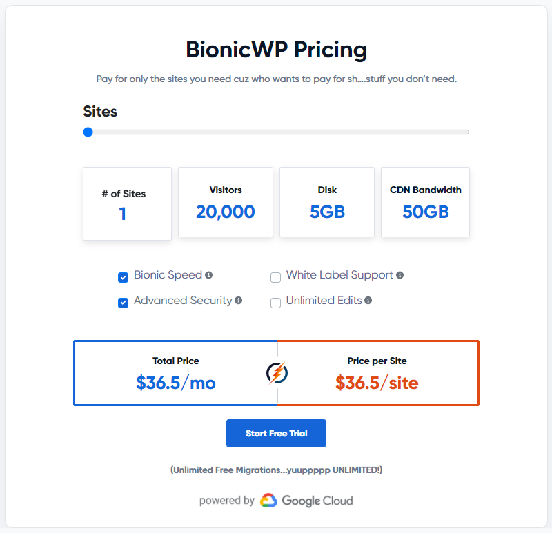 BionicWP 5 Site Managed WordPress Hosting
