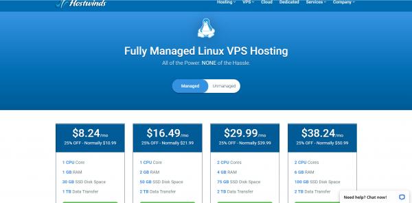 Fully Managed Linux VPS Hosting