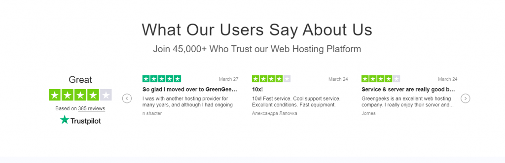 GreenGeeks WordPress Hosting Lite Plan