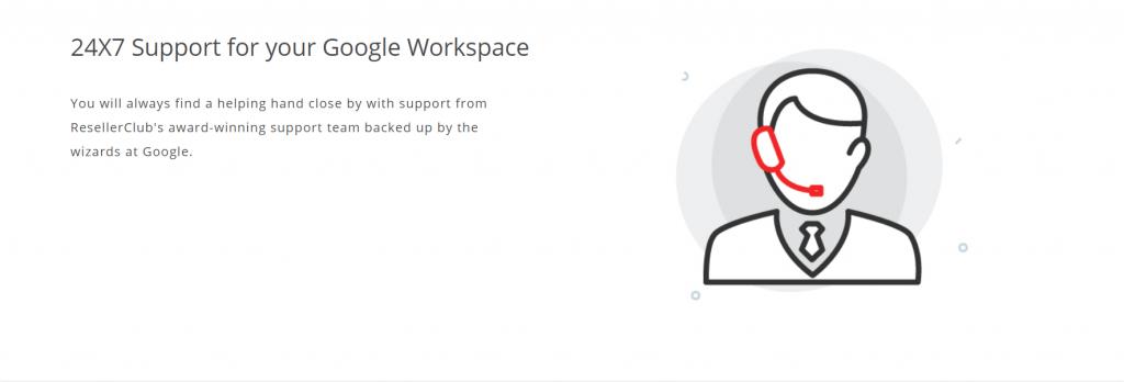 Resellerclub Google Email hosting Standard Plan