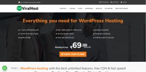 Goviralhost wordpress hosting