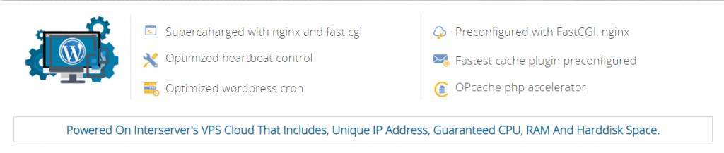 Interserver WordPress VPS Hosting Plus Hosting Plan